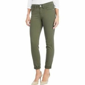 NYDJ | Olive Green 'Alina' Convertible Ankle Jeans
